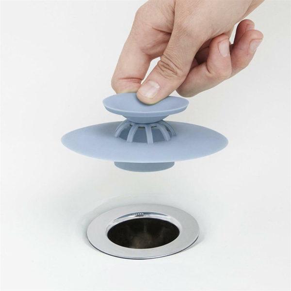Bouchon d'évier magique en silicone | Bleu