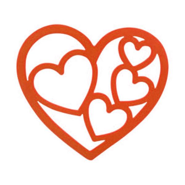 Dessous de plat Coeur Orange 01
