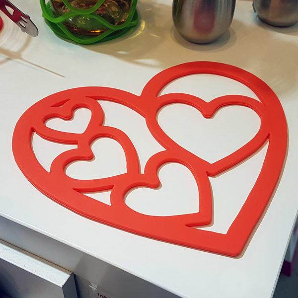 Dessous de plat Coeur Orange 02