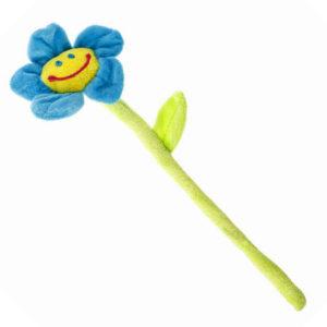 Embrasse souriante fleur Bleu 02