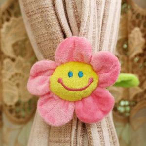 Smilling curtain loop Flower | Pink