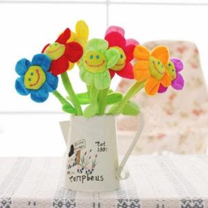 Smilling curtain loop Flower | Green