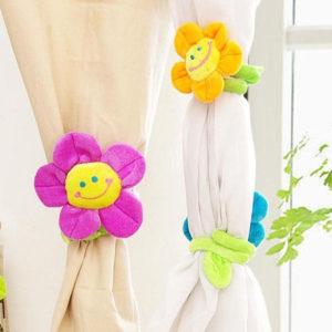 Smilling curtain loop Flower | Purple
