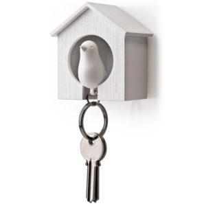 Porte-clés sifflet Oiseau_Blanc-Blanc_01
