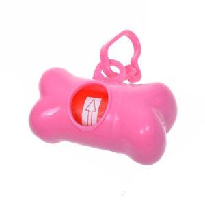Doggy poop bag dispenser | Pink