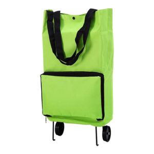 Smart folding trolley with wheels | Green
