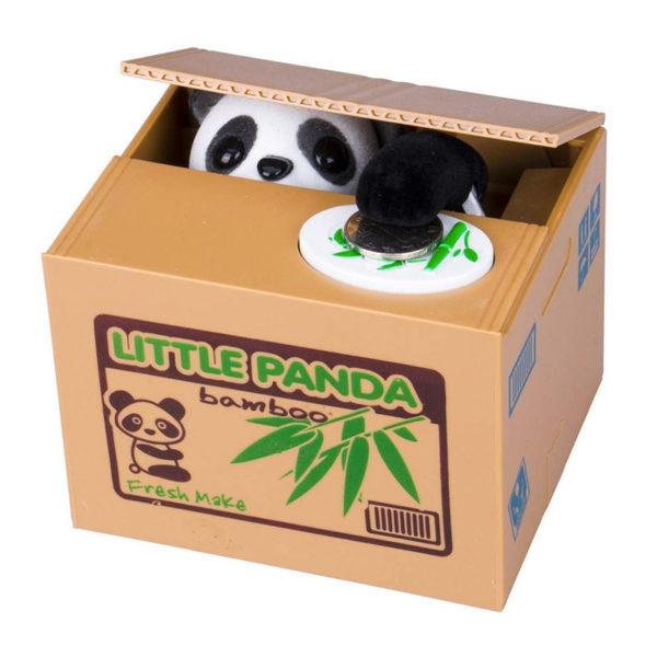 Tirelire animée Panda voleur 01-01