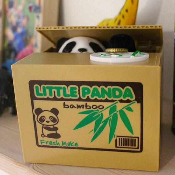 Tirelire animée Panda voleur 01-02