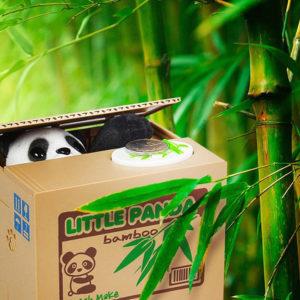 Tirelire animée Panda voleur 01-03