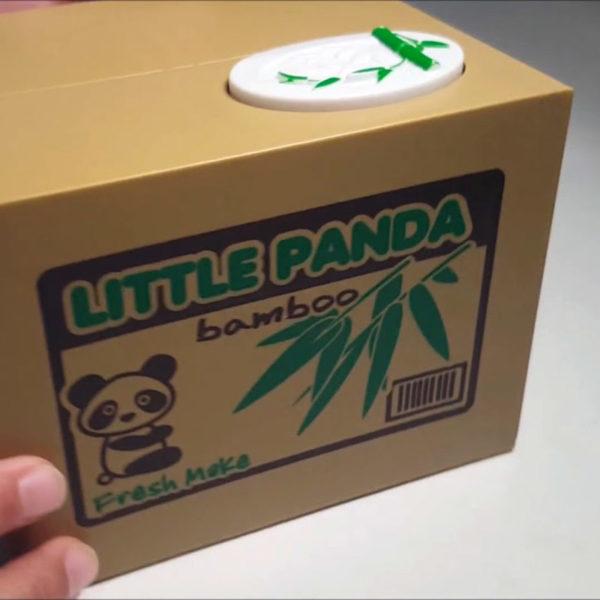 Tirelire animée Panda voleur 01-05
