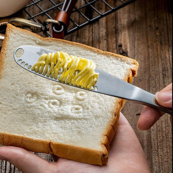 3 in 1 Multifunction Butter Knife | Stainless steel