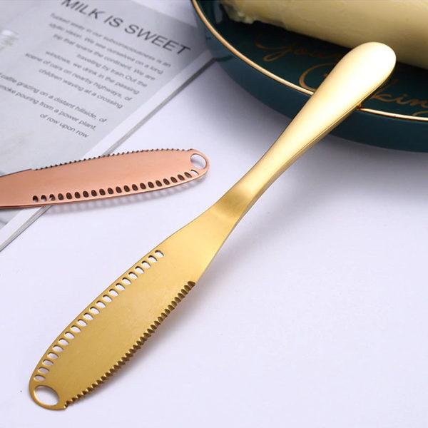 Couteau à beurre multifonction Or 02