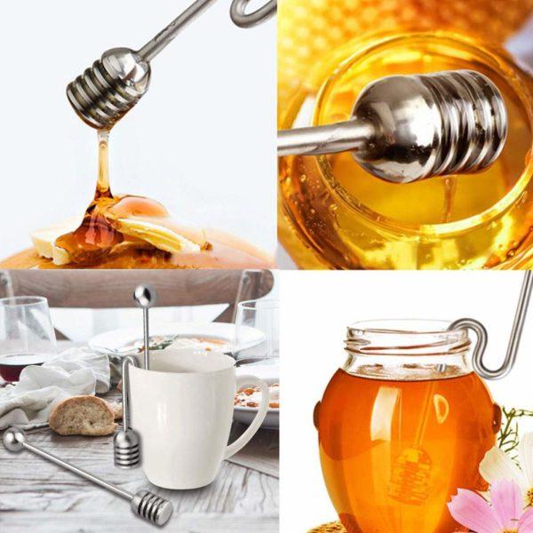 Cuillère à miel coudée_Inox 02