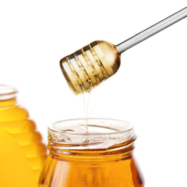Cuillère à miel coudée_Inox 03