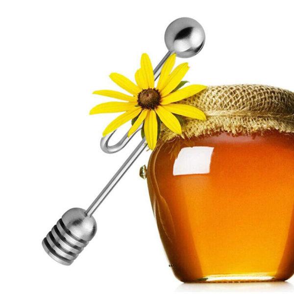 Cuillère à miel coudée_Inox 05