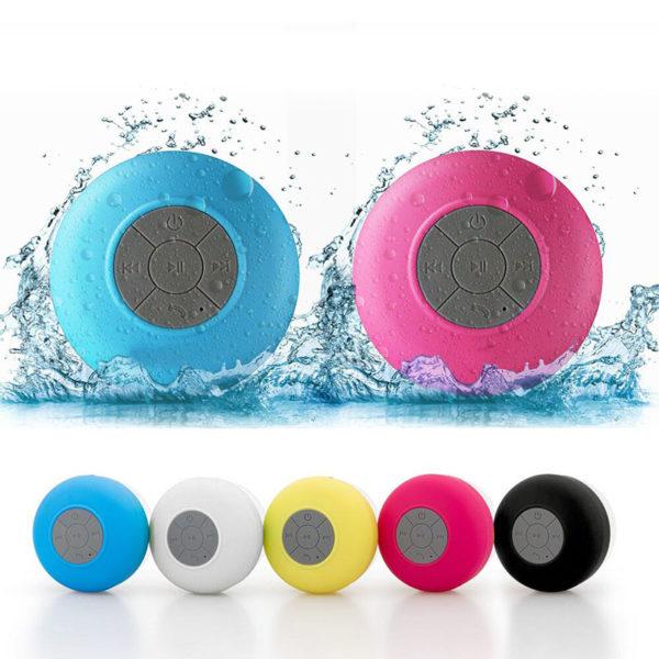 Enceinte Bluetooth colorée pour salle de bain 01