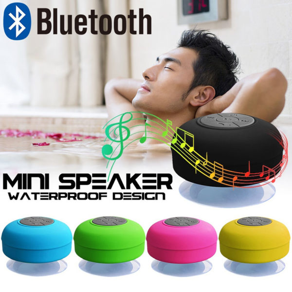 Enceinte Bluetooth colorée pour salle de bain 02