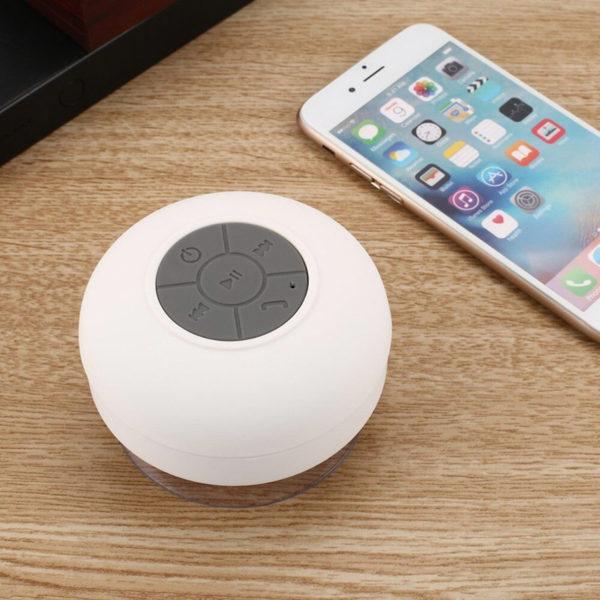 Enceinte Bluetooth colorée pour salle de bain Blanc 04