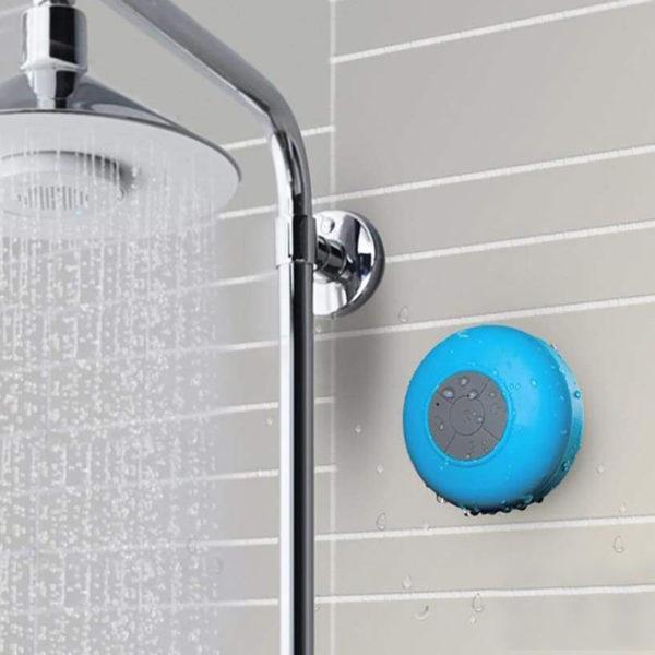 Enceinte Bluetooth colorée pour salle de bain Bleu 03