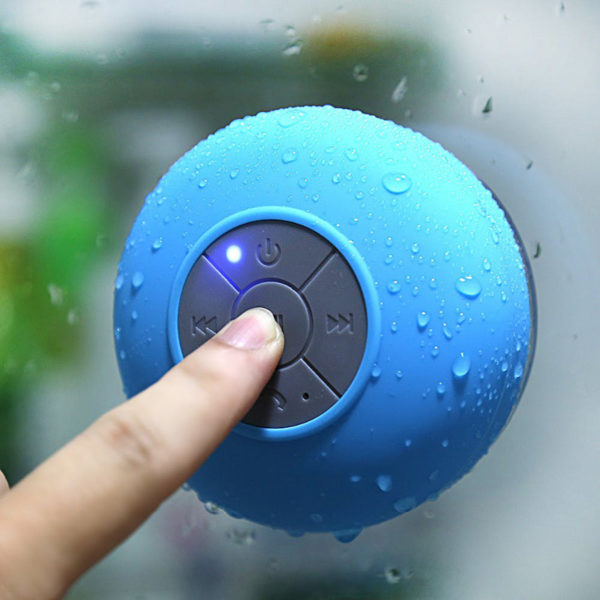 Enceinte Bluetooth colorée pour salle de bain Bleu 04