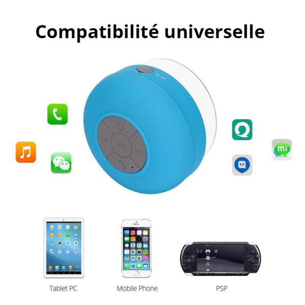 Enceinte Bluetooth colorée pour salle de bain Bleu 05