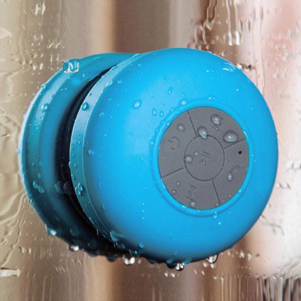 Enceinte Bluetooth colorée pour salle de bain Bleu 07