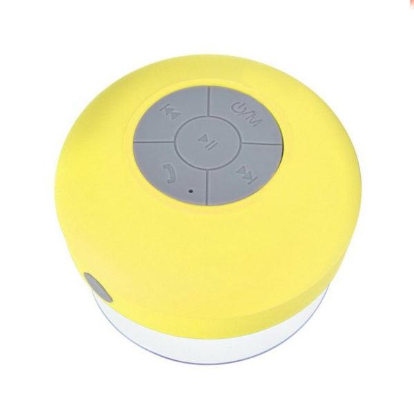 Enceinte Bluetooth colorée pour salle de bain Jaune 01