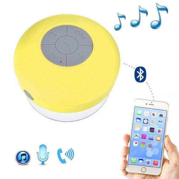 Enceinte Bluetooth colorée pour salle de bain Jaune 02