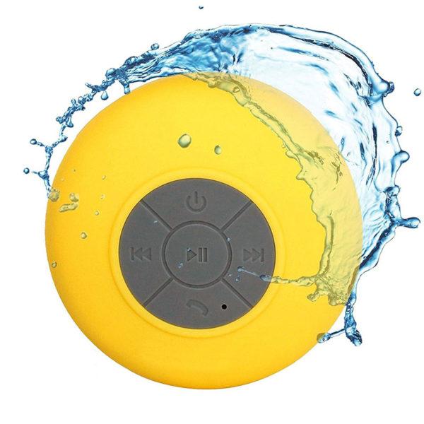 Enceinte Bluetooth colorée pour salle de bain Jaune 03