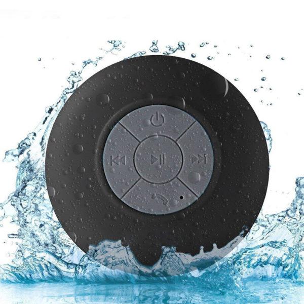 Enceinte Bluetooth colorée pour salle de bain Noir 03