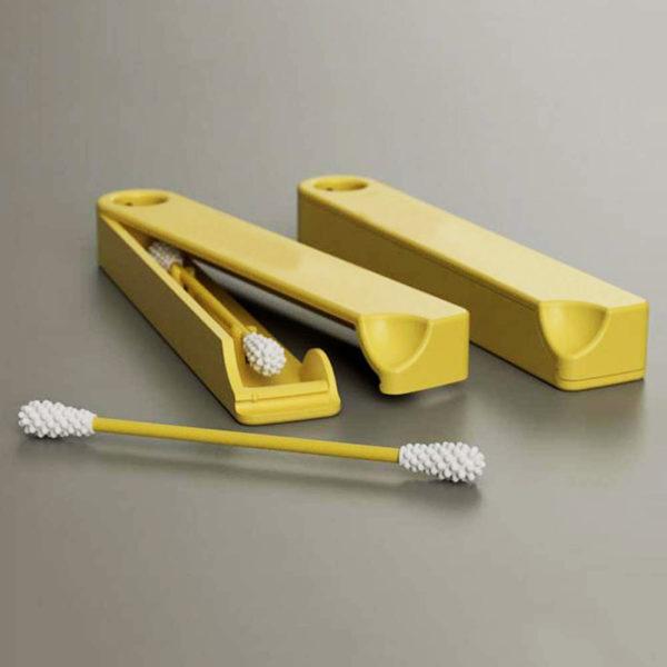 Mini Boite avec 2 Coton-tiges réutilisables en silicone 02