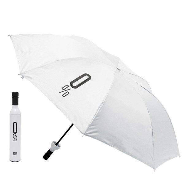 Parapluie pliable malin Bouteille Blanc 01