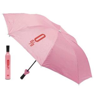 Parapluie pliable malin Bouteille Rose 01