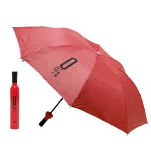 Parapluie pliable malin Bouteille Rouge 01