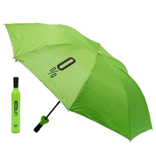 Parapluie pliable malin Bouteille Vert 01