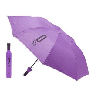 Parapluie pliable malin Bouteille Violet 01