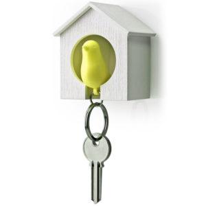 Bird Whistle Keyring | Yellow