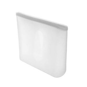 Large reusable silicone bag | White