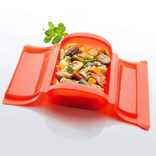 Grande papillote 650ml en silicone Rouge 04