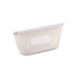 Small reusable silicone bag | White