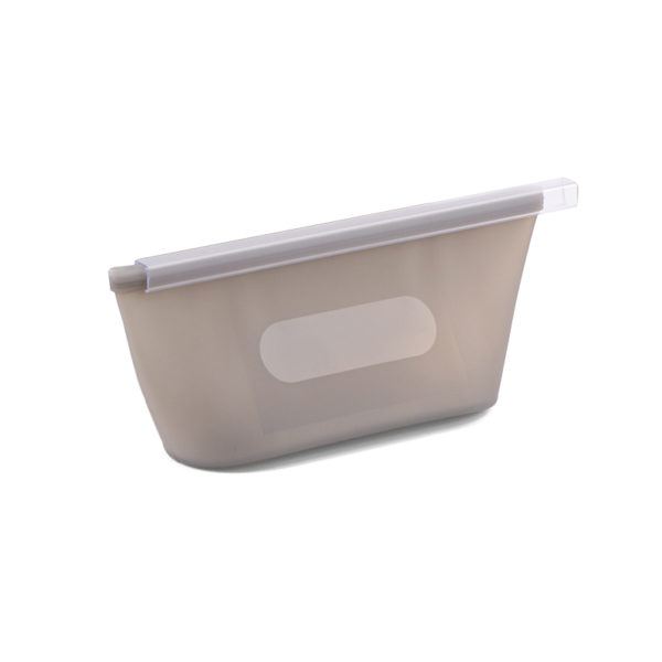 Small reusable silicone bag | Grey