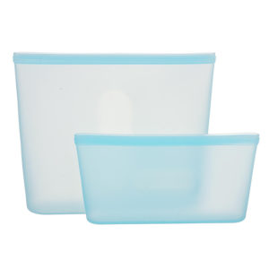 Set of 2 reusable silicone sachets | Blue