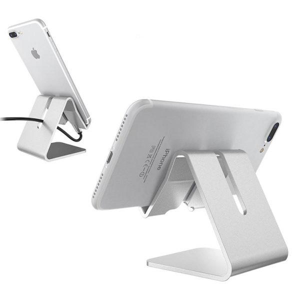 Support de smartphone en metal Gris 04