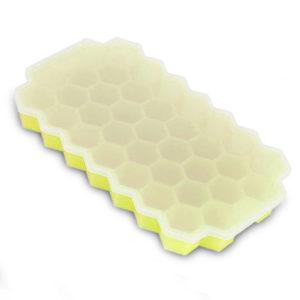 Hexagonal silicone ice cube tray | Yellow