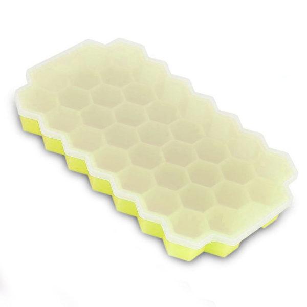 Bac à glaçons hexagonales en silicone_Jaune 01