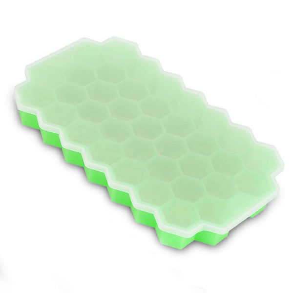 Hexagonal silicone ice cube tray | Green
