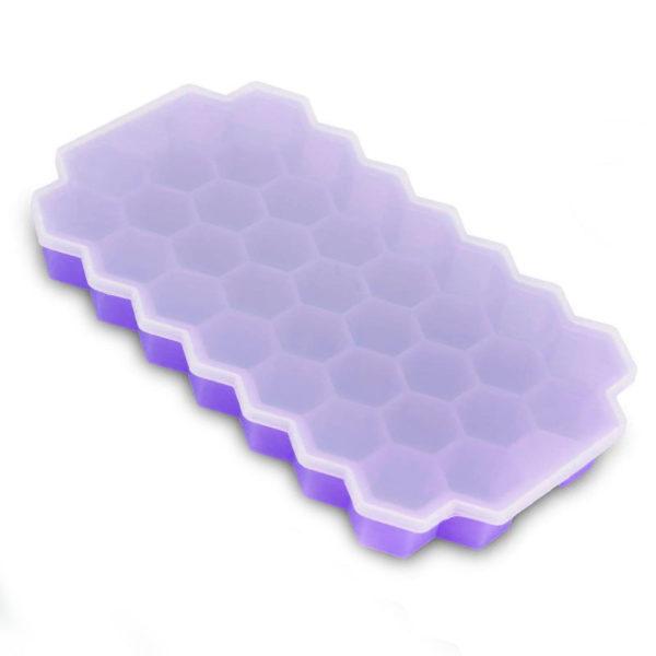 Bac à glaçons hexagonales en silicone_Violet 01