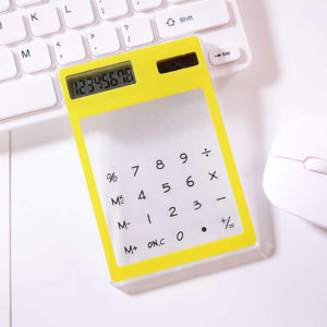 Transparent colored solar calculator | Yellow