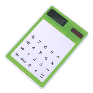 Calculatrice solaire colorée transparente Vert 01