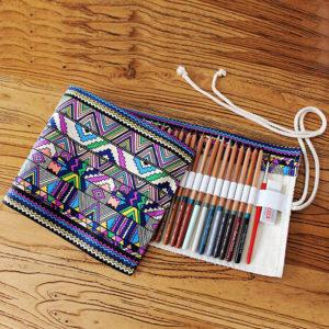 Roll case for 36 pencils | Multicolored